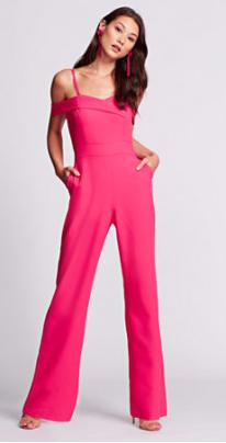 c04667c8469 Gabrielle Union Collection - Off-The-Shoulder Jumpsuit - Hot Pink
