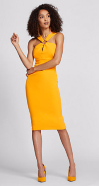 Mango salsa sheath dress