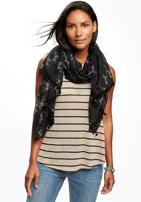 Printed Linear Scarf for Women _ Old Navy