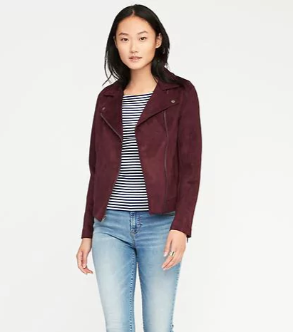 Sueded-Knit Moto Jacket for Women _ Old Navy