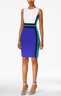 2017-09-18 11_19_49-Calvin Klein Colorblocked Sheath Dress - Dresses - Women - Macy's
