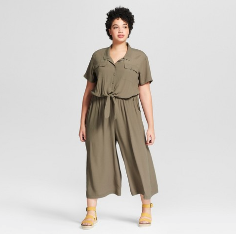 Target Universal Thread Green Olive Jumpsuit Plus Size