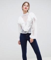 ASOS Design Lace Victoriana Blouse