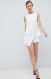 Lavish Alice Tailored Wrapover Romper