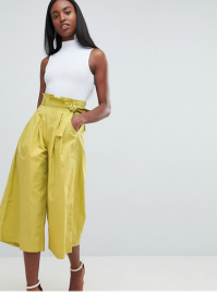 Missguided Tall Paper Waist Culottes