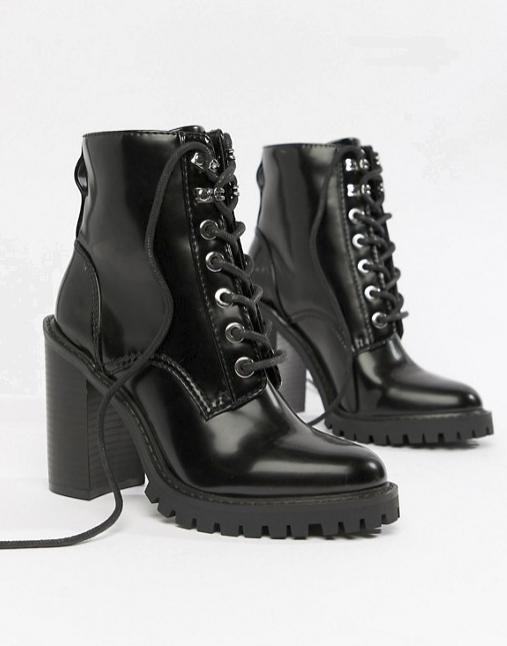 ASOS black combat boots