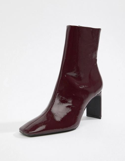 Bershka Patent ankle bootie