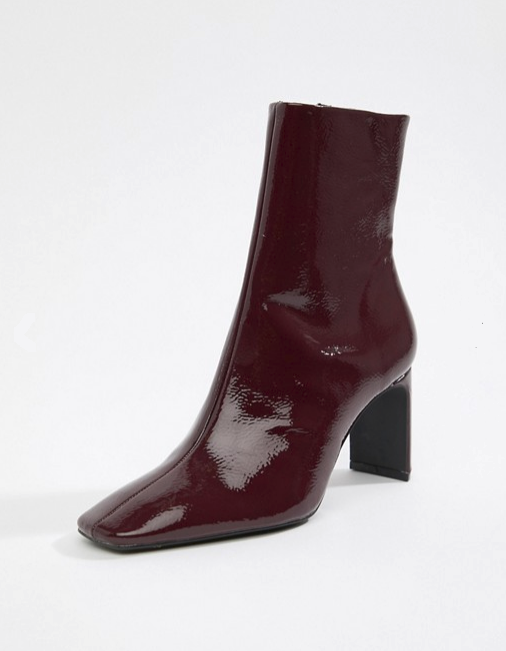 Bershka Patent ankle bootie