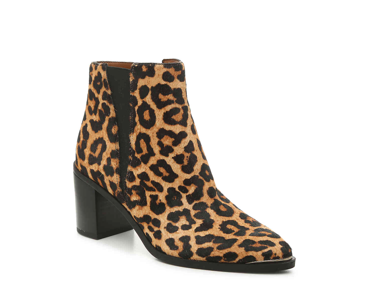 Franco Sarto Leopard Print Booties