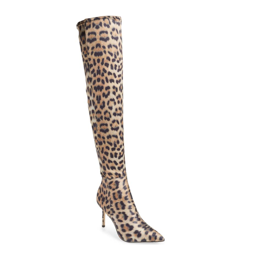 Katy Perry Leopard Print over the knee boot